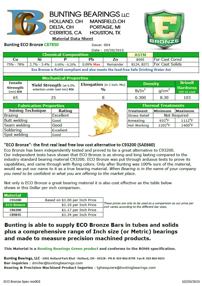 ECO Bronze Specification (Revision 4)